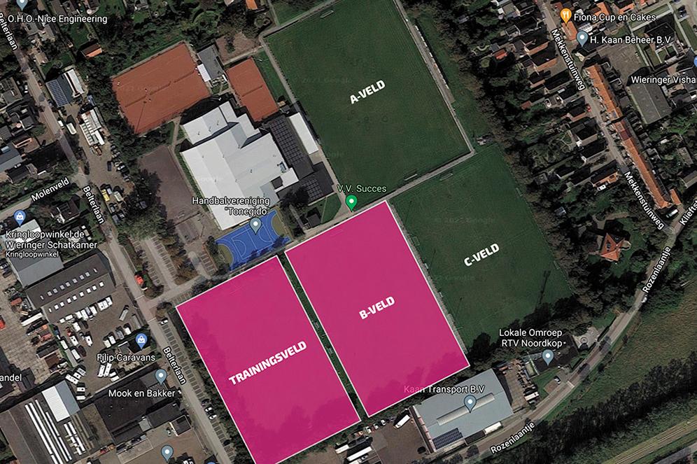 Trainingsveld en B-veld komende weken niet bespeelbaar